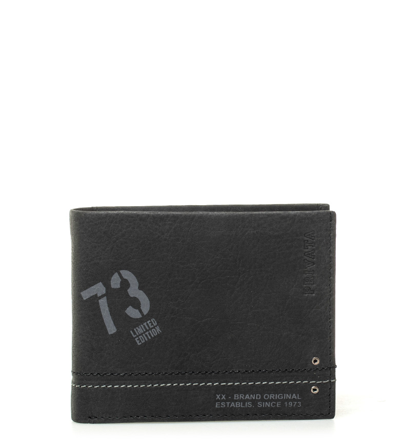 Comprar Privata Billetero de piel Teen negro -8,5x10cm-