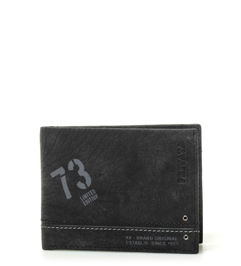 Comprar Privata Portefeuille en cuir Teen noir -8x10,5cm-
