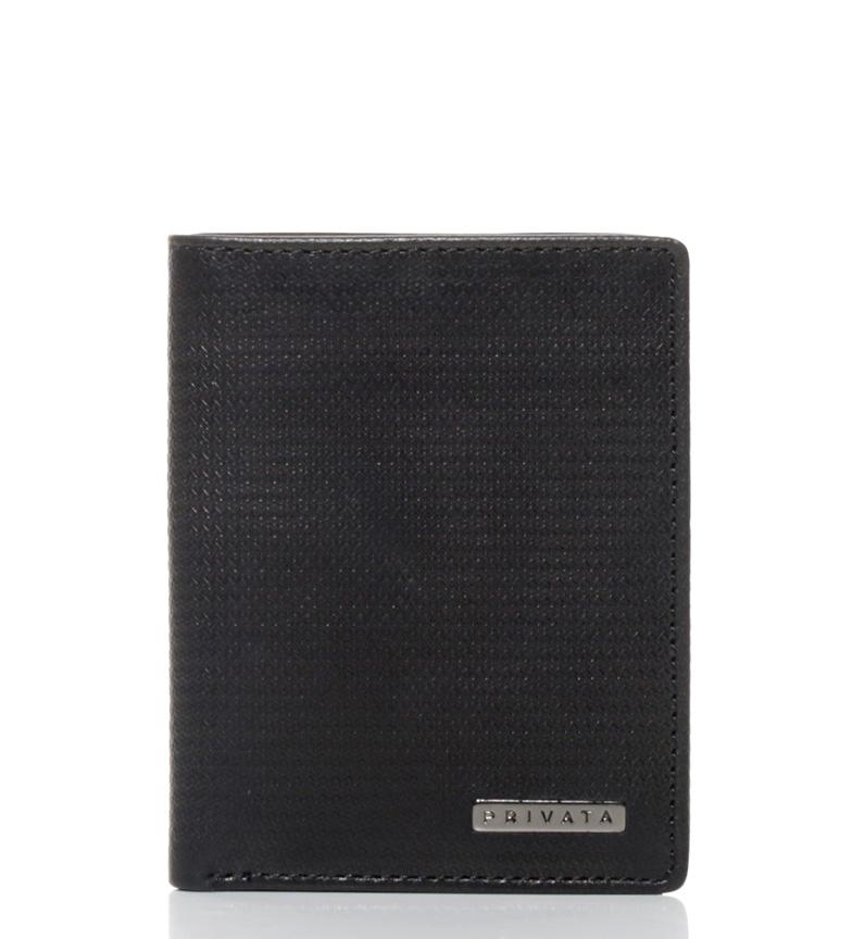 Comprar Privata Leather wallet Vegetable Printed black-11x9 cm-