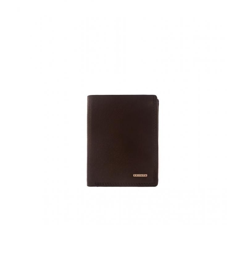 Privata Leather wallet MHPR11498 brown -11x8,5x1cm