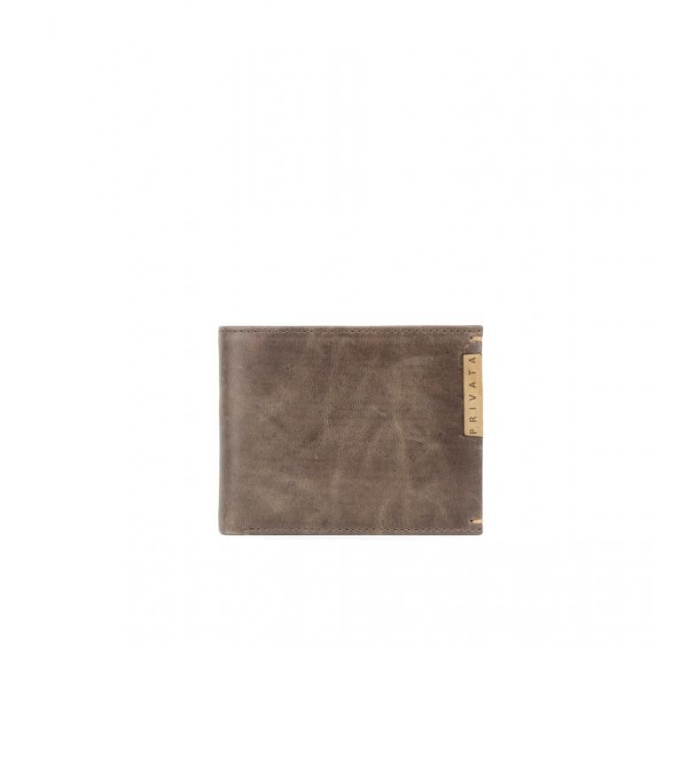 Comprar Privata Portafoglio in pelle marrone MHPR20186 -8,5x10,5x1cm-