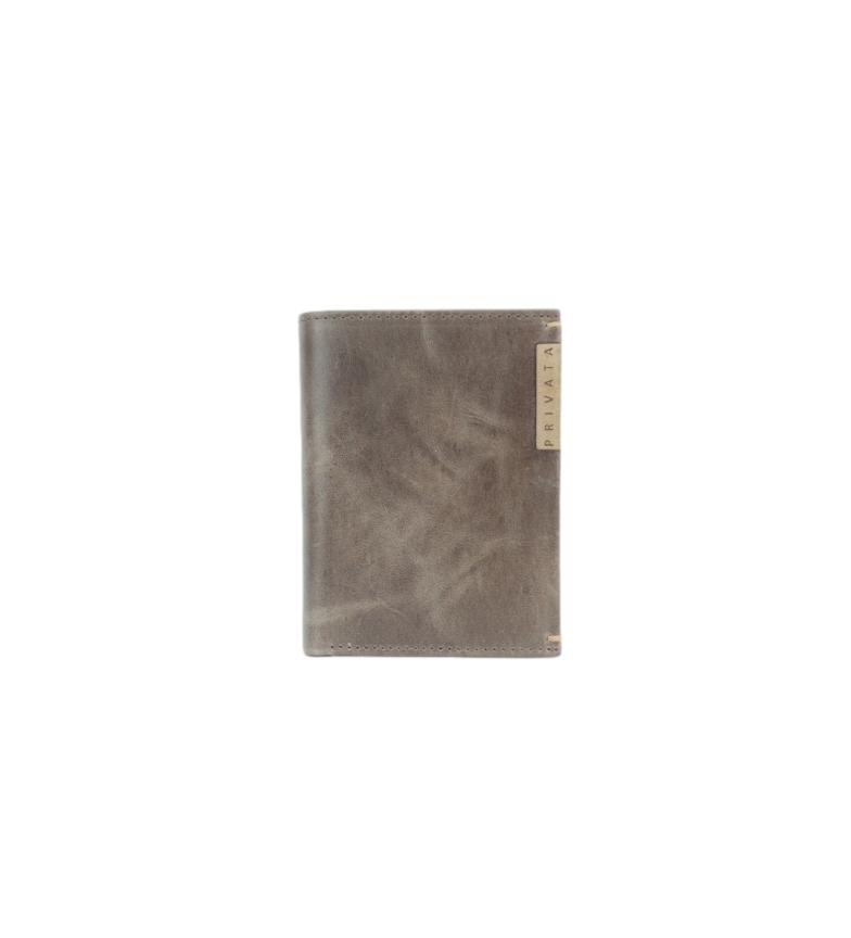 Privata Billetero de piel MHPR20198 marrón -11x8x1cm-