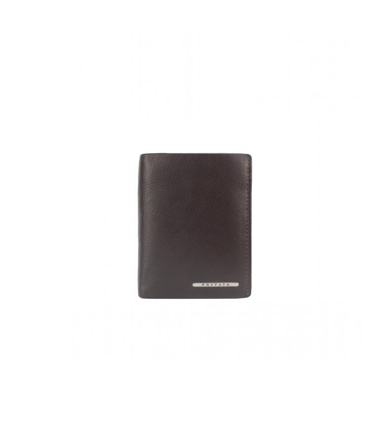 Privata Portefeuille en cuir MHPR82028 marron -11x8,5x1cm