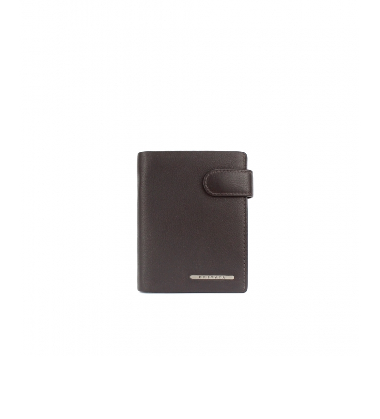 Comprar Privata Portafoglio in pelle marrone MHPR82084 -11x8,5x1cm-