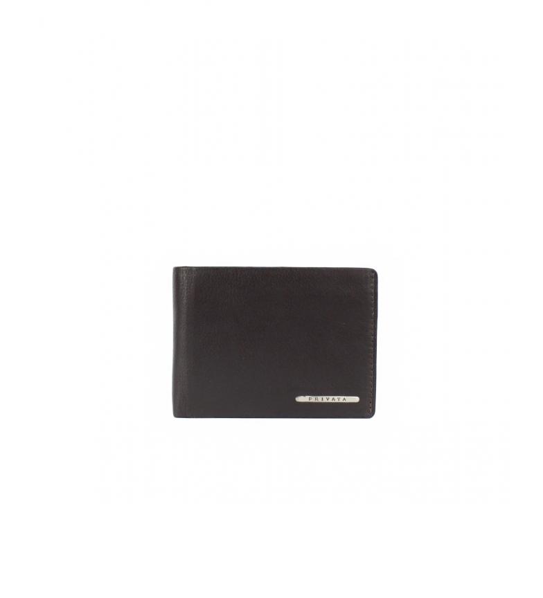 Privata Portefeuille en cuir MHPR82086 marron -8x11x1cm