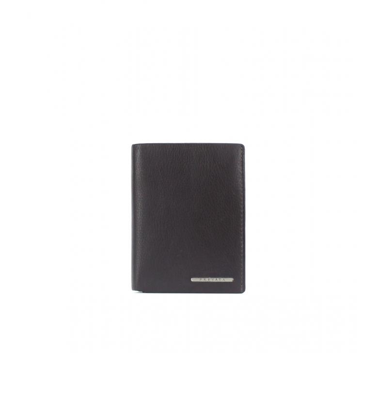 Privata Portefeuille en cuir MHPR82090 marron -12x9x1cm