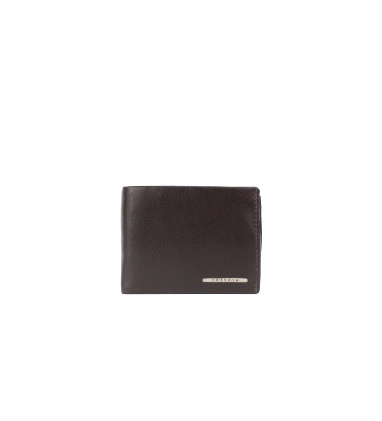 Comprar Privata Portafoglio in pelle marrone MHPR82092 -8x10,5x1cm-