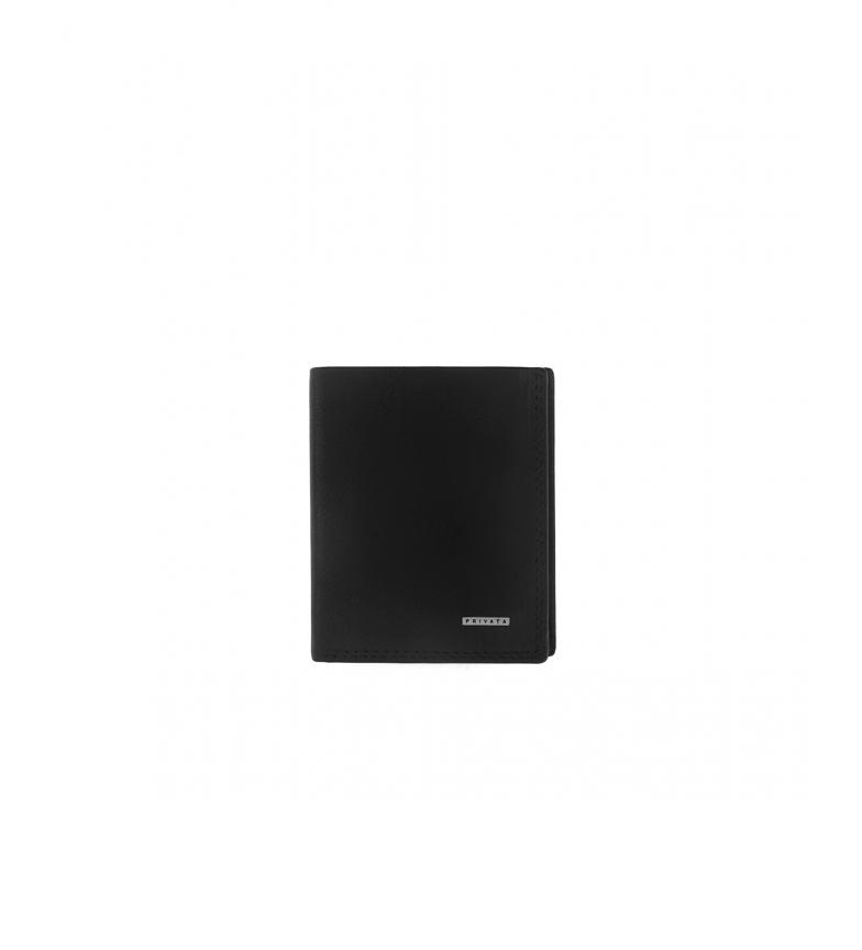 Privata Leather wallet MHPR11428 black -10x8x1cm