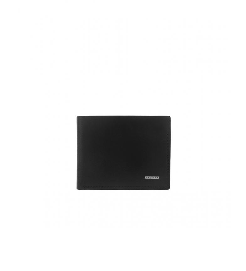 Privata Billetero de piel MHPR11486 negro -8,5x11x1cm-