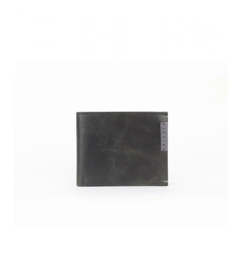 Privata Portefeuille en cuir MHPR20192 noir -8,5x10,5x1cm