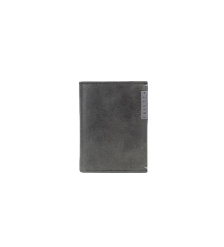 Privata Leather wallet MHPR20198 black -11x8x1cm