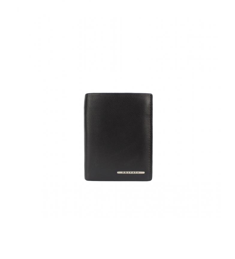 Privata Portefeuille en cuir MHPR82028 noir -11x8,5x1cm