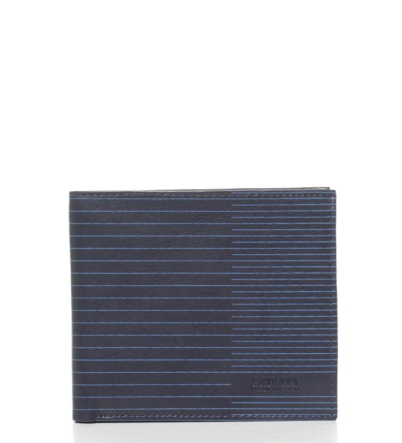Comprar Privata Cartera de piel Nappa Line azul-8,5x10,5 cm-