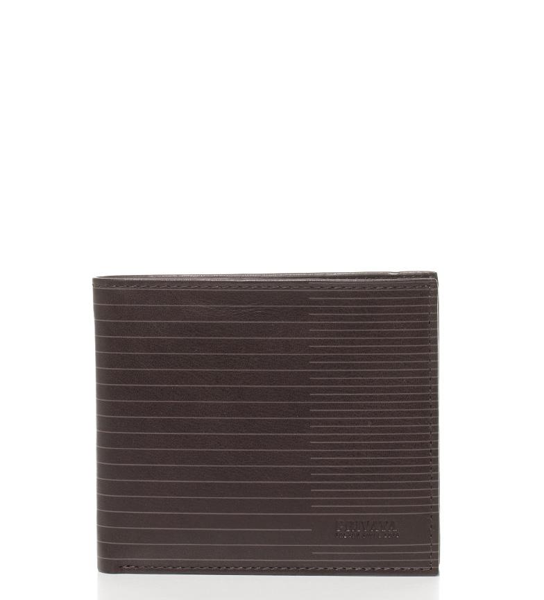 Comprar Privata Cartera de piel Nappa Line marrón-8,5x10,5 cm-