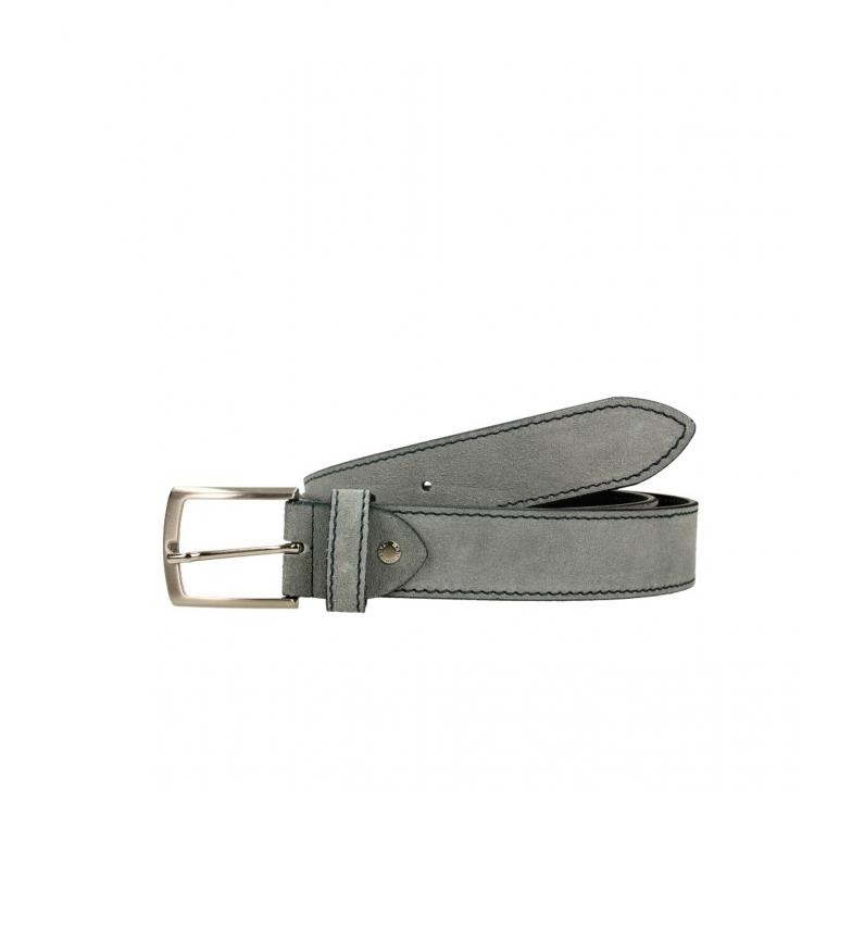 Privata Leather belt CIPR73602 gray