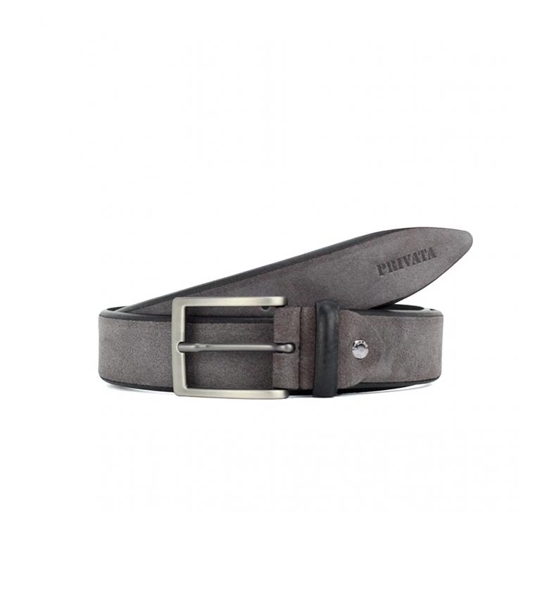 Privata Leather belt CIPR79002 gray