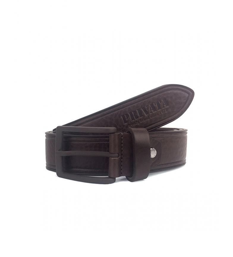 Comprar Privata CIPR73200 cintura in pelle marrone