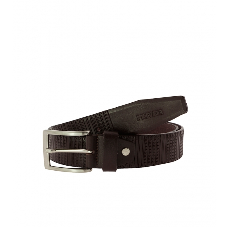 Comprar Privata CIPR73204 cintura in pelle marrone