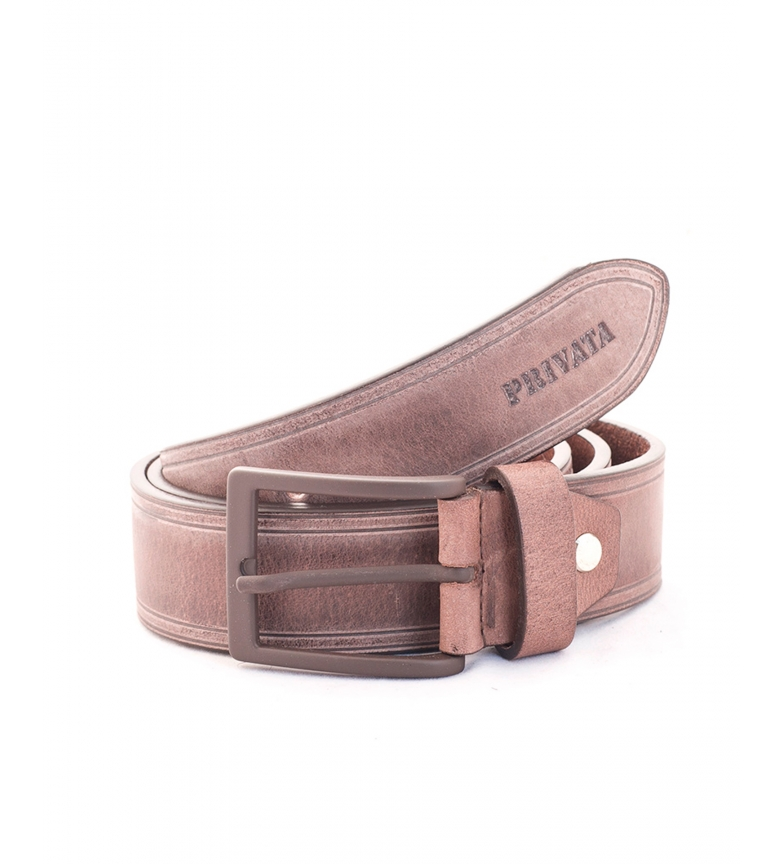 Privata Leather belt CIPR73623A brown