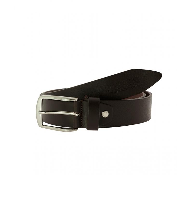 Privata Brown leather belt CIPR74011