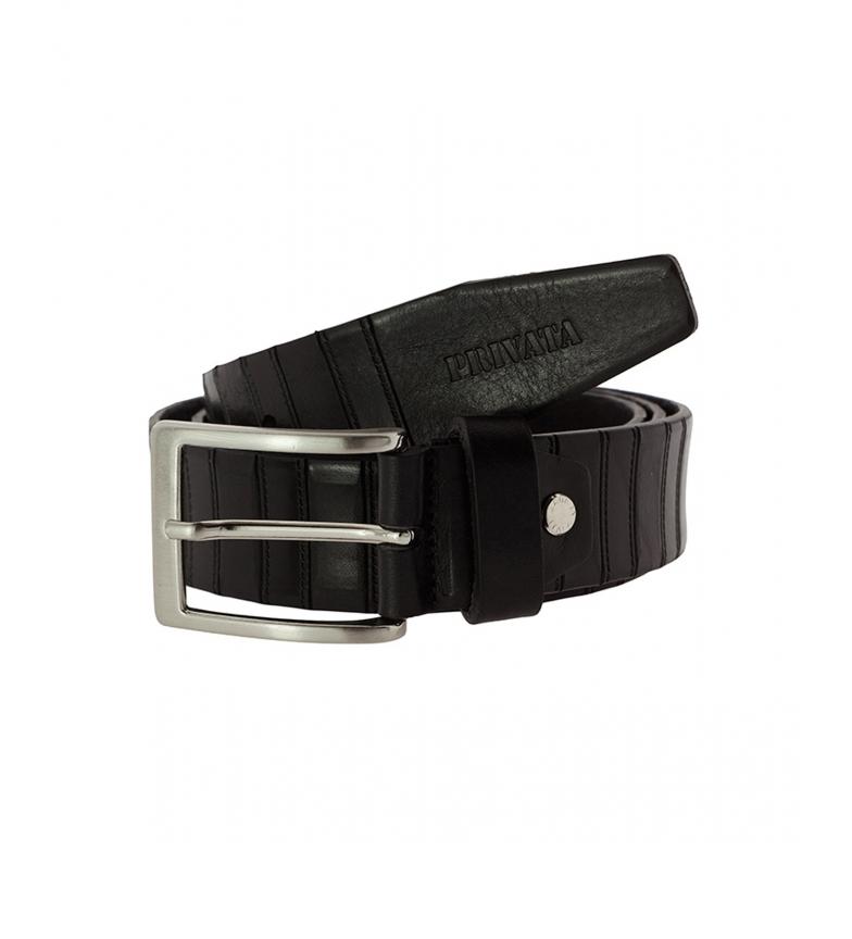 Privata Cinturón de piel CIPR73203 negro