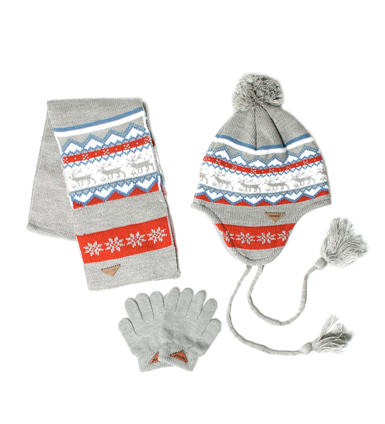 Comprar Privata Set hat, gloves, scarf Bear gray