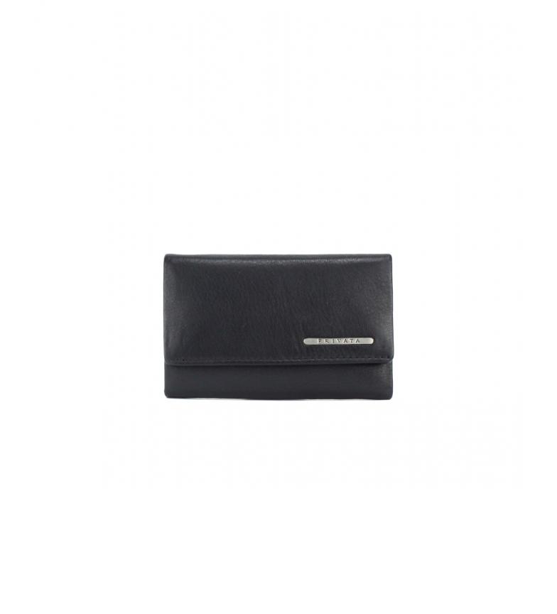Comprar Privata Portafoglio in pelle portachiavi MHPR82008 nero -7x11x1cm-