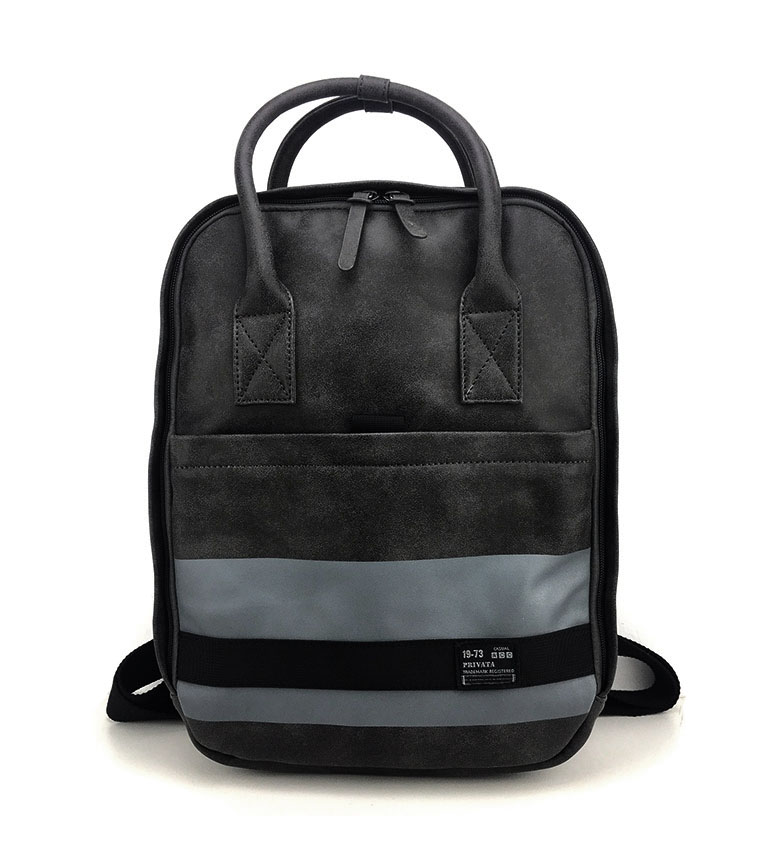 Comprar Privata Backpack Strip black -37x28x11cm