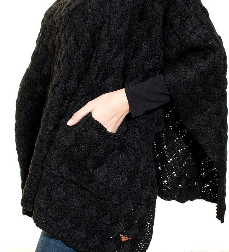 Privata Poncho Trend negro