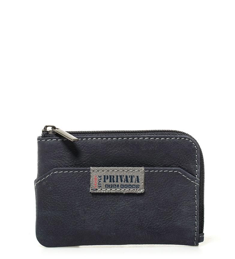 Comprar Privata Borsa in pelle blu etichetta - 7x10,5 cm-