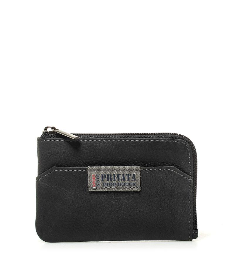 Comprar Privata Portamonedas de piel Label negro - 7x10,5cm-