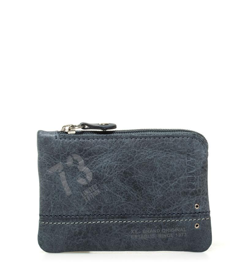 Comprar Privata Portamonedas de piel Teen azul -7x10,5cm-