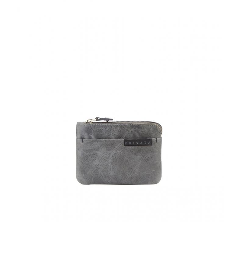 Comprar Privata Borsa in pelle grigia MHPR20105 -7,5x10,5x1cm-