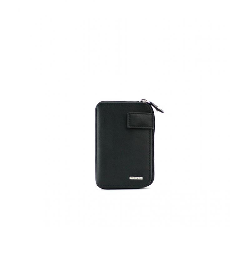 Comprar Privata Leather wallet MHPR11407 black -10,5x6,5x1cm