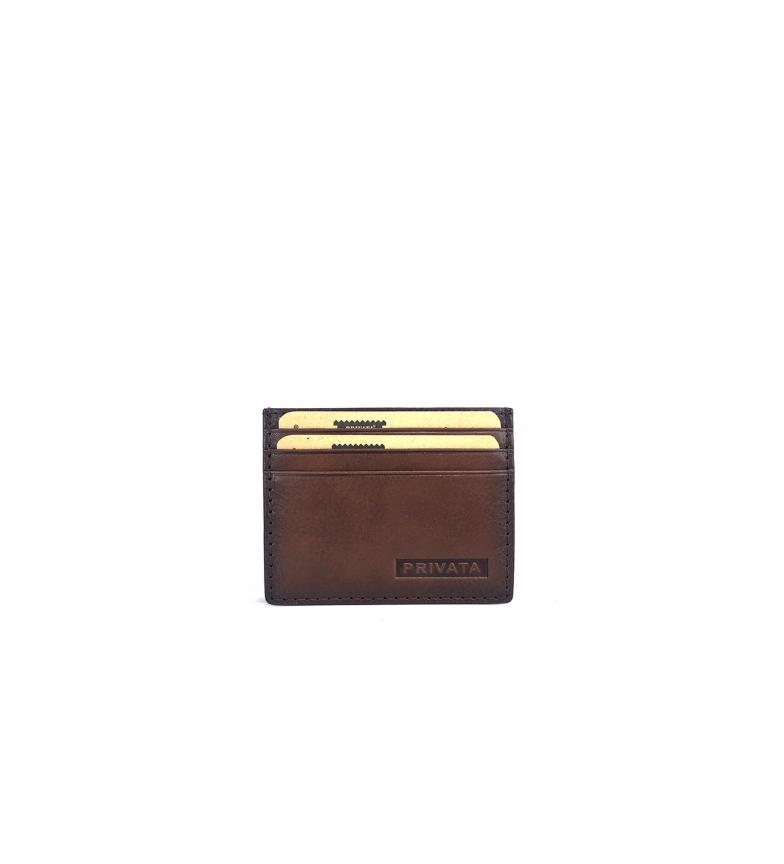 Privata Porte-cartes en cuir MHPR84711 cuir -7,5x9,5x1cm