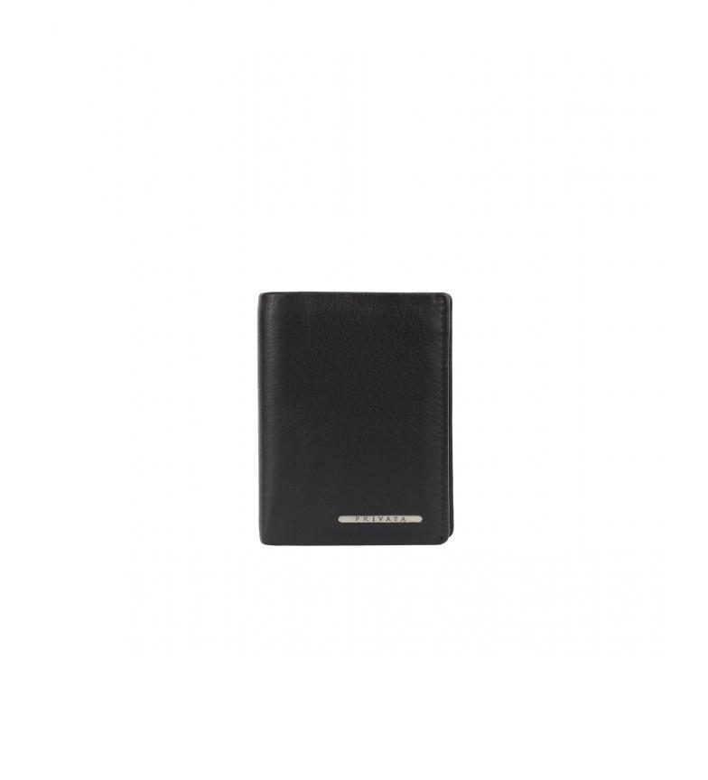 Comprar Privata Portacarte in pelle nera MHPR82010 -10x8x1cm-