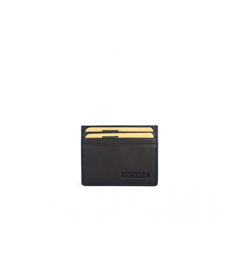 Privata Porte-cartes de visite en cuir MHPR84711 taupe -7,5x9,5x1cm