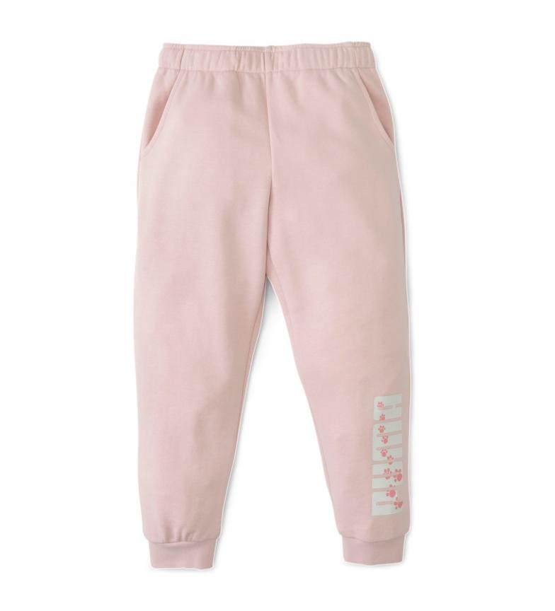 Comprar Puma Pantaloni della tuta da ginnastica con animali rosa