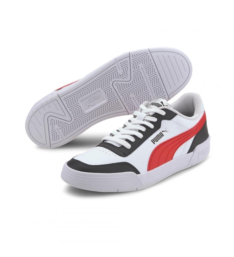 Comprar Puma Sapatos de couro caracal branco, preto, vermelho