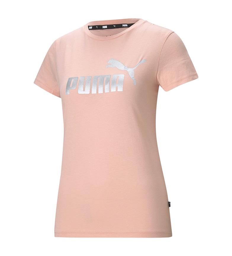 Comprar Puma Logótipo Essentials T-Shirt Metálica Cor-de-Rosa