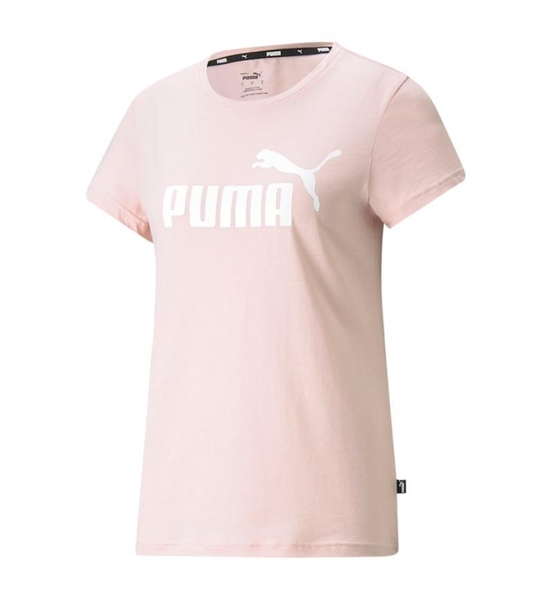 Puma Camiseta ESS Logo rosa