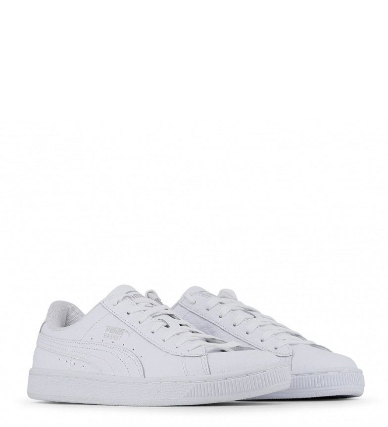 Zapatillas piel Classic de Puma blanco Basket ZwpCdZEq