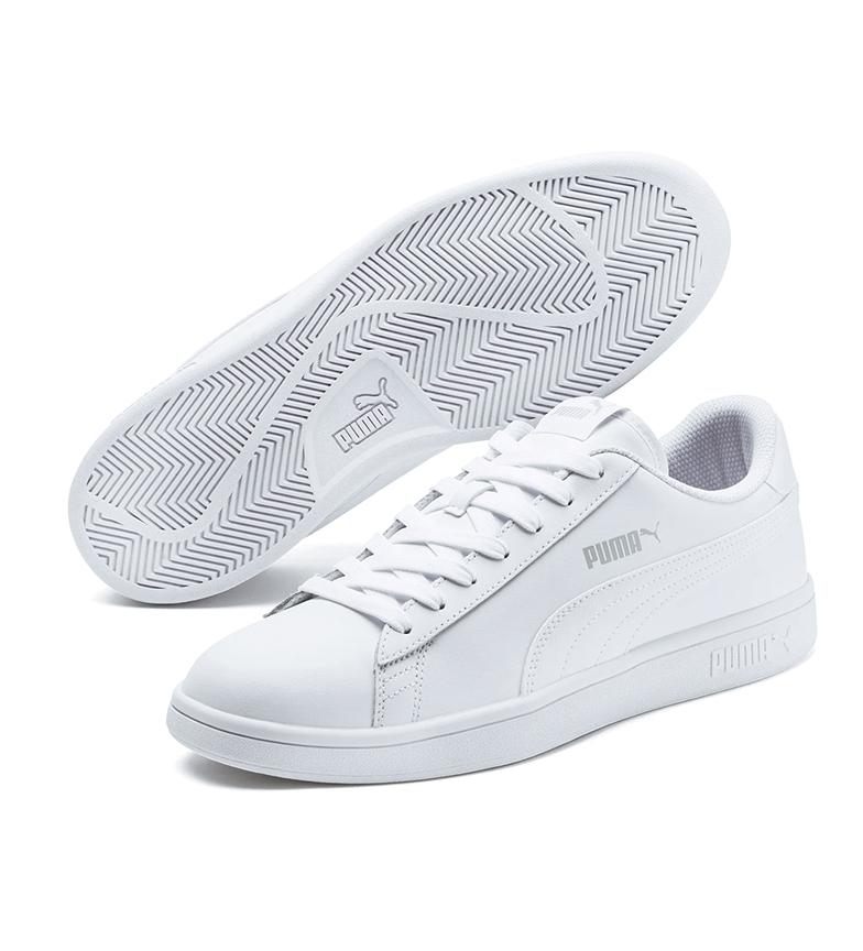 Comprar Puma Sapatos de couro Puma Smash v2 L branco