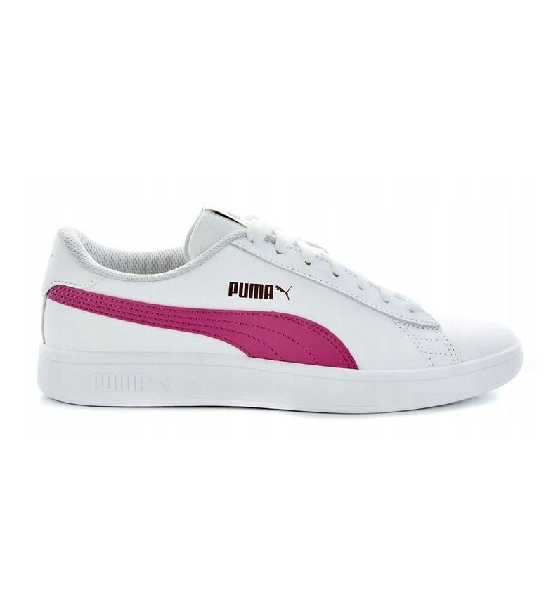 Comprar Puma Sapatos de couro Puma Smash v2 L Jr magenta