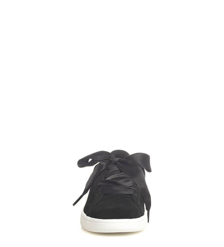 Puma-Zapatillas-de-piel-Smash-V2-Ribbon-Mujer-chica-Plano-Cordones-Casual-Rosa miniatura 13