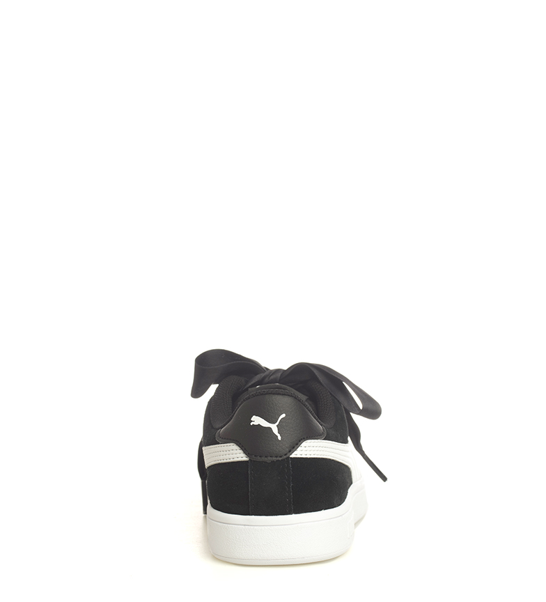 Puma-Zapatillas-de-piel-Smash-V2-Ribbon-Mujer-chica-Plano-Cordones-Casual-Rosa miniatura 14