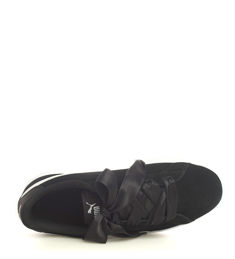 Puma-Zapatillas-de-piel-Smash-V2-Ribbon-Mujer-chica-Plano-Cordones-Casual-Rosa miniatura 16