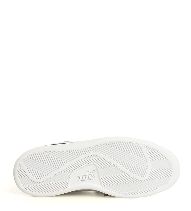 Puma-Zapatillas-de-piel-Smash-V2-Ribbon-Mujer-chica-Plano-Cordones-Casual-Rosa miniatura 17