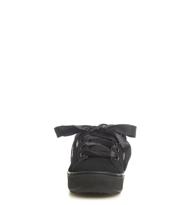Puma-Zapatillas-de-piel-Vikky-Platform-Ribbon-S-Mujer-chica-Azul-Negro-Plano miniatura 13