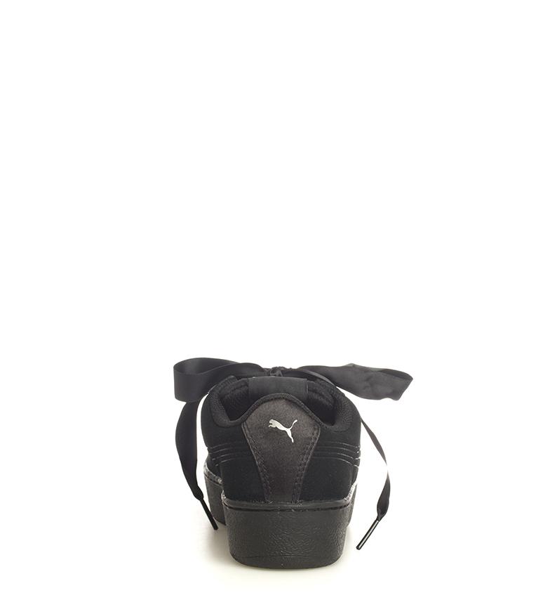 Puma-Zapatillas-de-piel-Vikky-Platform-Ribbon-S-Mujer-chica-Azul-Negro-Plano miniatura 14
